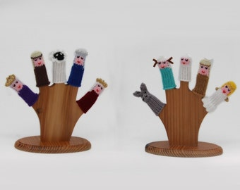 Nativity Finger Puppet Set (Includes Baby Jesus, Mary, Jospeh, Donkey, Angel, Shepherd, Sheep, and the Three Wiseman.)