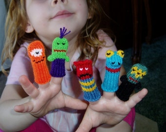 Monster Mania Finger Puppet Set (Includes 5 different creepy cutesy monsters.) We can create custom listings.