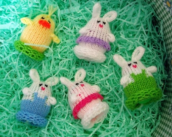 Mini Easter Egglets (Set of 6 - 2 Boy Bunnies, 2 Girl Bunnies, and 2 Chicks.)  Want a different grouping - just contact us.
