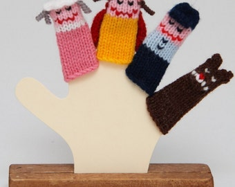 Little Red Riding Hood Finger Puppet Set  (Includes Little Red Riding Hood, Grandma, Woodsman, and Wolf.)  We can create custom orders.