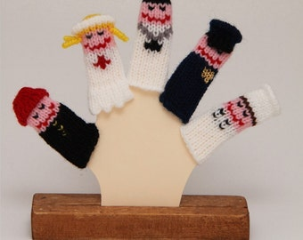 Community Helpers Finger Puppet Set  (Includes Firefighter, Nurse, Doctor, Police Officer, and Chef.)  We can create custom listings.