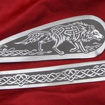 Celtic or Nordic Wolf for Viking Wedding, Personalized Cake Server and Knife Set, Norse Wedding Decorations, Table Settings, Dire Wolf