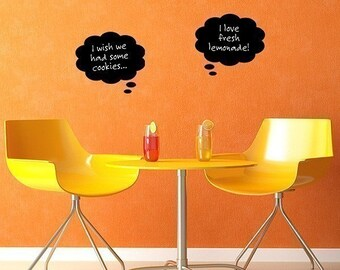 Chalkboard decals - thought bubbles - dorm room decor