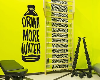 Water Bottle Decal, Drink More Water, Fitness motivation vinyl decal, weight loss motivation, gym wall decor
