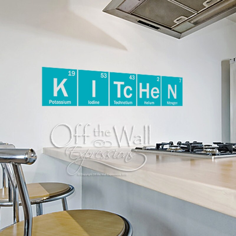 5 Key Components Of A Mellow Beach Kitchen: Kitchen Periodic Table Elements Vinyl Wall Art Decal