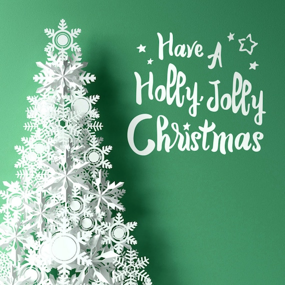 Weihnachten Wandtattoo haben eine Holly Jolly Christmas | Etsy