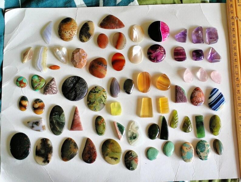 Gemstone Cabochons Jewelry Supply metalsmith supply image 0