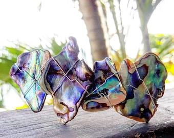 Paua Shell Barrette, Abalone Hair Clip, New Zealand Paua, Wedding accessory, Hair Decoration, mermaid gift, Beach Barrette