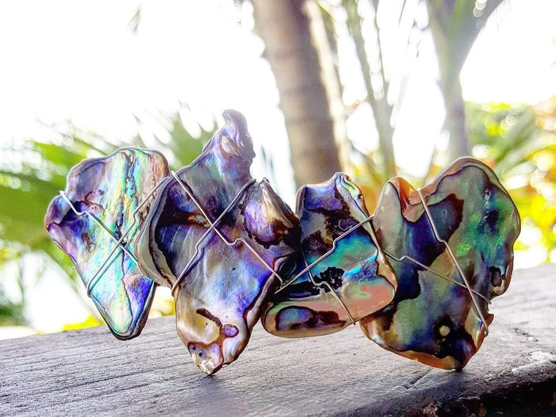Paua Shell Barrette Hair Clip Abalone Hair Clip  New XL