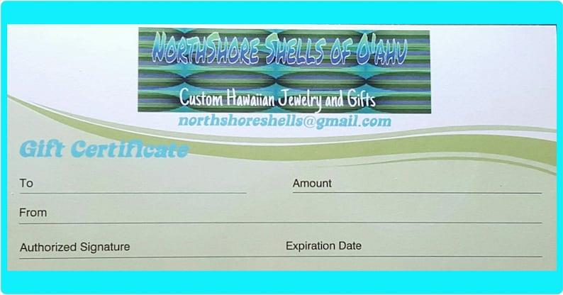 Gift Certificate Hawaiian gifts ocean decor school crafts image 0