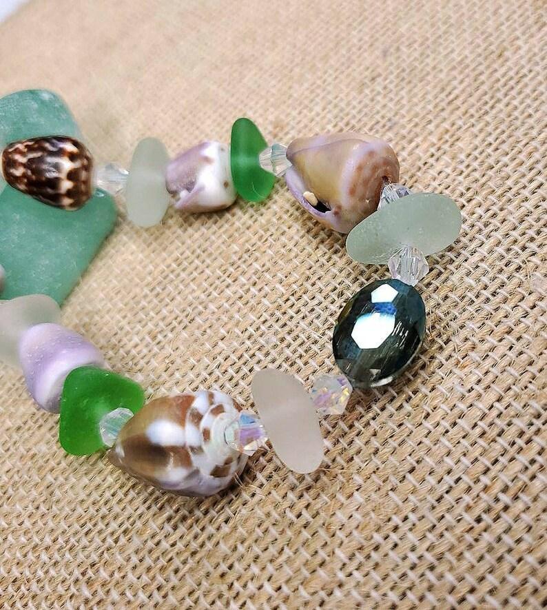 Hawaiian seashell jewelry beach bracelet cone shells resort image 0