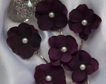 Wedding Sale,Rhinestone Center,Wedding,Eggplant Wedding,Bridal Hair Flower,Wedding Accessories,Bridal Accessories,Bridal Hair Flower