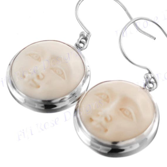 "5//8/"" BUDDHA FACE 925 STERLING SILVER earrings"