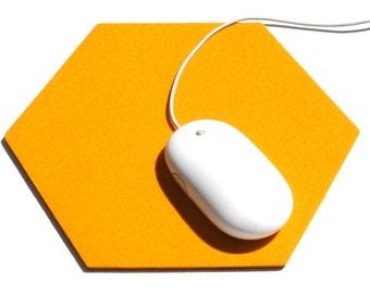 Hexagon Wool Felt Mouse Pad