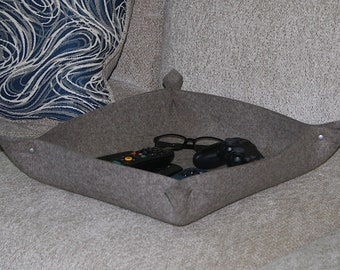 """13"""" x 14.5"""" Large Valet Tray, Remote Control Caddy, Environmentally Friendly Gift"""