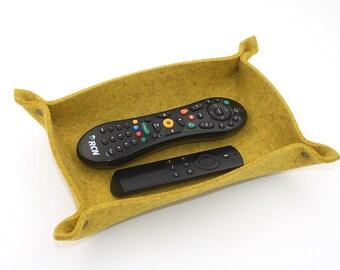 """10 1/4"""" x 6 1/2"""" Pure Wool Felt Valet Tray Remote Control Caddy"""