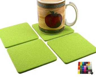 NEW! Elegant Cut Square Wool Felt Coasters for Drinks Coaster Set