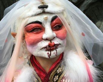 Daji the Huli Jing, Kitsune/Kumiho/Fox Spirit OOAK Sculpture Bust