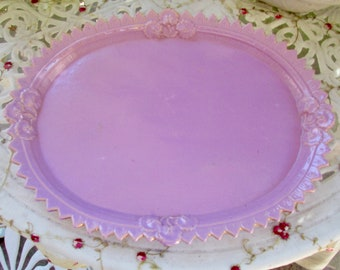 Vintage Whimsical Purple Tray
