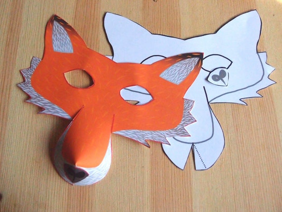 photo regarding Fox Mask Printable known as Fox Mask - Printable Craft Package - Little ones Celebration Sport - Do-it-yourself dress