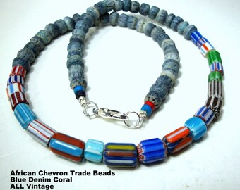 Handmade Spice Amber Krobo recycled Glass African trade Beads-Ghana
