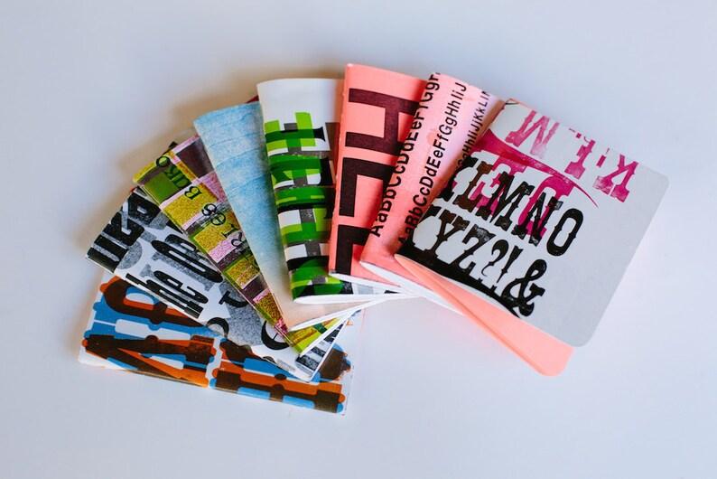 Assorted Blank Letterpress Notebooks 3 pack image 0