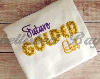 Future Golden Girl Applique Ruffle T-shirt for Girls