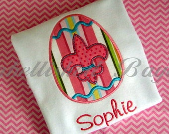 Easter Applique T-shirt for Girls or Boys Personalized