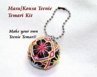 Teenie Temari Kit - Masu/Shikaku, Kousa Style with Keychain