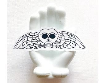 Memento Mori Winged Skull Death's Head Sticker