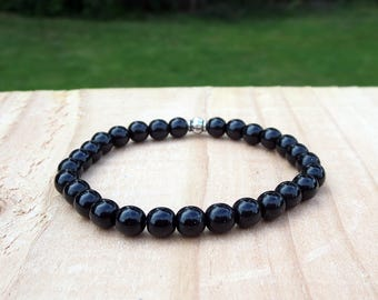 Black Beaded Stretch Stackable Everyday Girls Teens Tweens Friendship His and Hers Kids Bracelet Birthday Present for Daughter or  Niece or