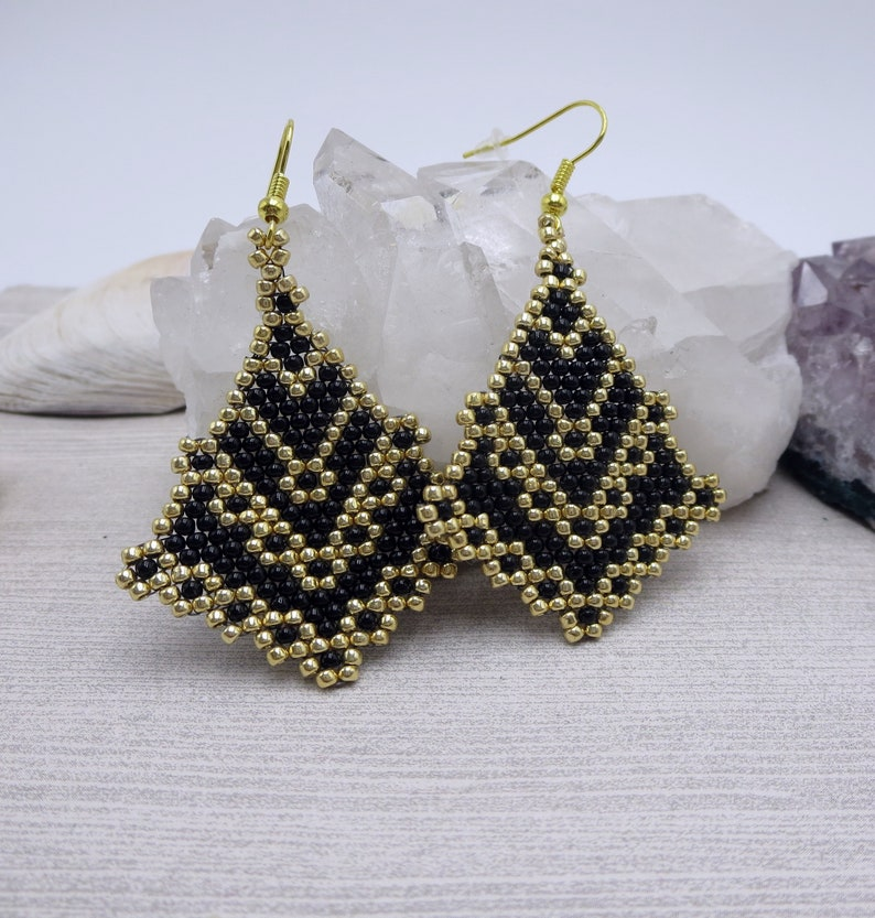 Gifted to Wendy Williams !!Black and Gold Statement Earrings Jewelry that Donates Fashion  Evening Elegant Earrings