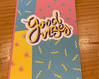 Good Vibes Notebook, Inspirational Pad for Women, Journal, Gift for New Business Owner, Positive Affirmations Note Book, Good Vibes Only