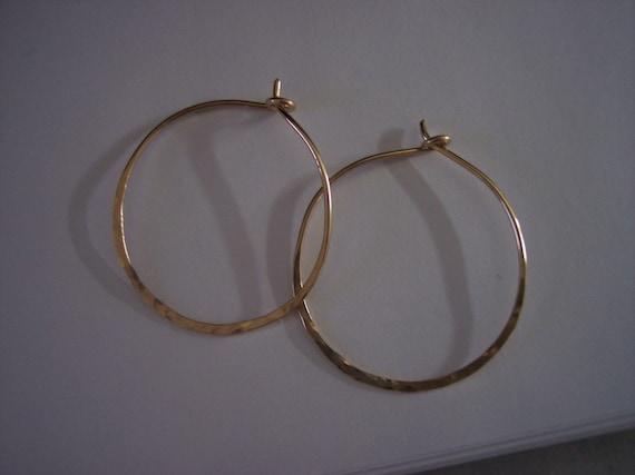 1 1 4 Inch Gold Hoop Earrings Etsy
