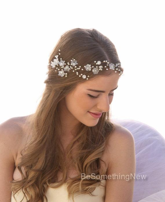 Hochzeit Haar Reben Von Vintage Blumen Perlen Und Strass Etsy