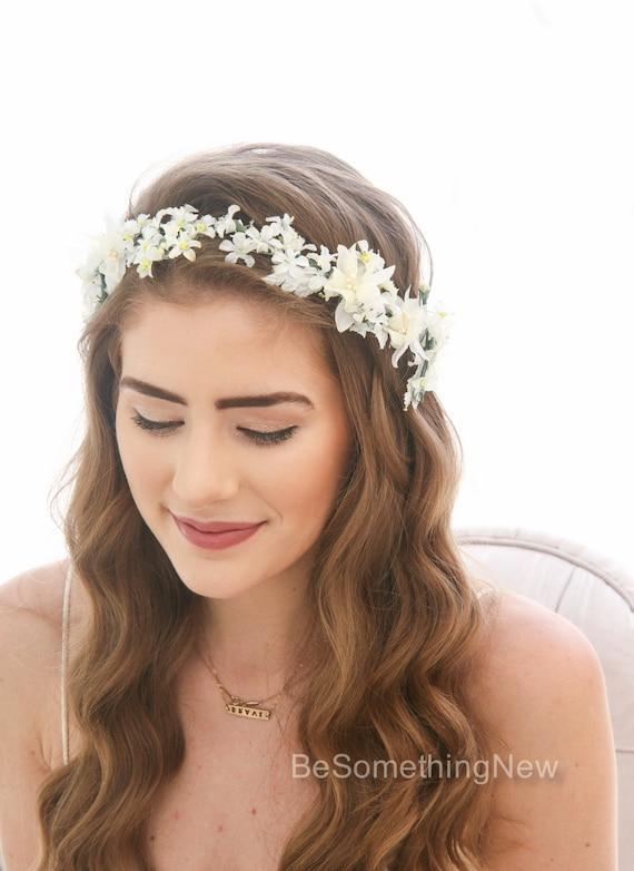 Flower Crown of Vintage Flowers Floral Headband Bridesmaids  d029bfb7751