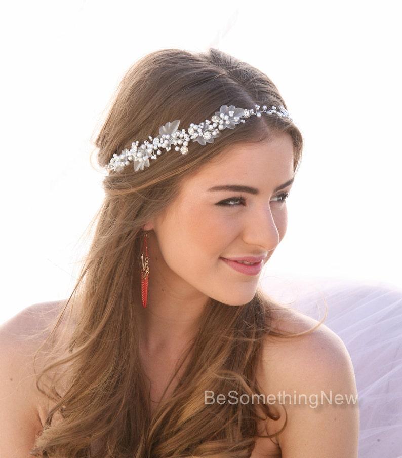 Perla e strass nozze capelli Vine accessori per capelli sposa  8b500411f6cc