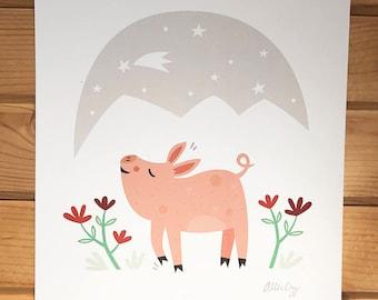 Pig Love Print
