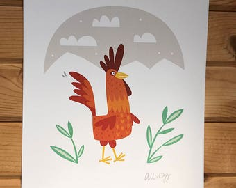 Rooster Love Print