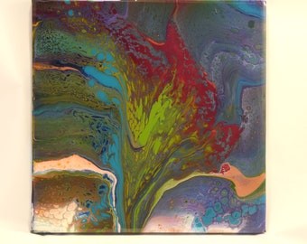 Jamie Original Artwork Poured Acrylic on Canvas Finished with Epoxy Resin