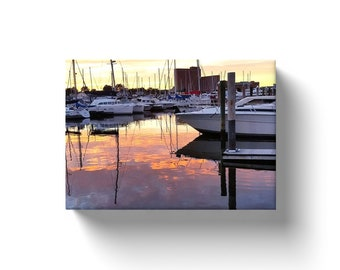 Evening at the Marina - Portsmouth VA - Photo on Canvas