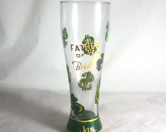Hand Painted Beer Glasse