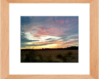 Driving South On The Eastern Shore Framed Landscape Print