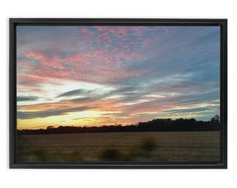 Southbound On The Eastern Shore Framed Landscape Print On Canvas