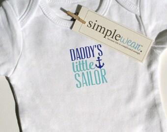 daddy's little sailor baby bodysuit