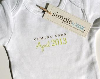 coming soon... baby bodysuit pregnancy announcement