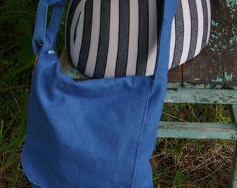 Chrissy's Messenger  Bag -  Blue denim