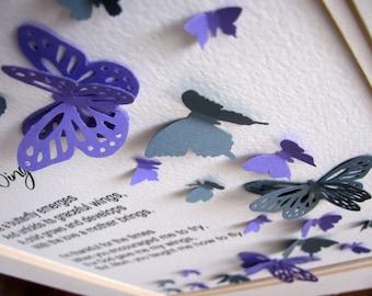 Papillon 3d Wordart Force De Mon Amour Sound Of My Heart