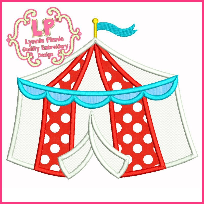 circus tent applique 4x4 5x7 6x10 machine embroidery design etsy One Person Instant Tent 50