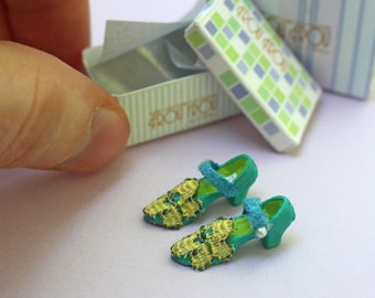 Miniature Rebecca Shoes + Shoebox + Shopping Bag